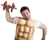 Hombre gordo con ABS Imagen de archivo