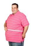Hombre gordo con una cinta métrica Fotos de archivo libres de regalías