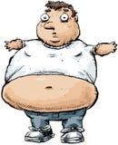 Hombre gordo de la historieta libre illustration
