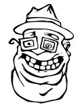Hombre gordo loco Imágenes de archivo libres de regalías