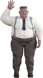 Hombre gordo obeso divertido aislado Foto de archivo