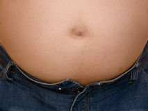 Hombre gordo panzudo gordo Foto de archivo libre de regalías