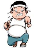 Hombre gordo que activa stock de ilustración