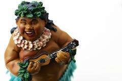 Hombre gordo que juega música foto de archivo