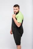 Hombre gordo tímido fotos de archivo