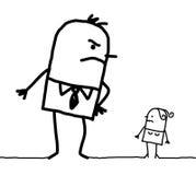 Hombre grande y pequeña mujer Imágenes de archivo libres de regalías