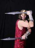 Hombre griego del guerrero Foto de archivo libre de regalías