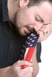 Hombre gritador triste imágenes de archivo libres de regalías