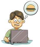 Hombre hambriento libre illustration