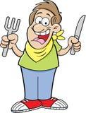 Hombre hambriento de la historieta libre illustration