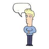 hombre hastiado de la historieta con la burbuja del discurso Imágenes de archivo libres de regalías