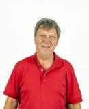 Hombre hermoso con la camisa roja Fotografía de archivo