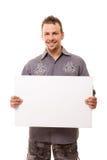 Hombre hermoso con la tarjeta Imagenes de archivo