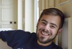 Hombre hermoso con una barba Imágenes de archivo libres de regalías