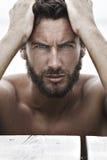 Hombre hermoso de la moda confiada Foto de archivo libre de regalías