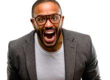 Hombre hermoso del afroamericano fotografía de archivo libre de regalías