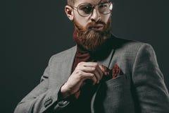 Hombre hermoso en lentes Foto de archivo libre de regalías