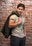Hombre hermoso en wea casual Fotos de archivo libres de regalías