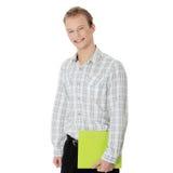 Hombre hermoso feliz joven del estudiante imagen de archivo libre de regalías