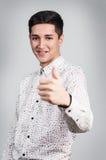 Hombre hermoso joven con sonrisa Imágenes de archivo libres de regalías