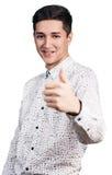 Hombre hermoso joven con sonrisa Foto de archivo