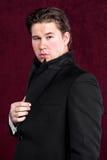 Hombre hermoso joven elegante Imagen de archivo