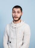 Hombre hermoso sorprendido jóvenes Fotografía de archivo