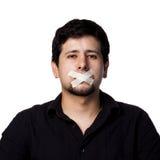 Hombre hispánico silenciado fotografía de archivo libre de regalías