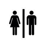 Hombre, icono de la mujer, hombre, vector del icono de la mujer, hombre, icono plano, hombre, muestra del icono de la mujer, homb Imágenes de archivo libres de regalías