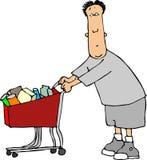 Hombre II. que hace compras. stock de ilustración