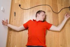 Hombre inconsciente Imagen de archivo libre de regalías