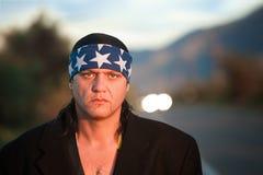 Hombre indígena por la cara del camino Imágenes de archivo libres de regalías