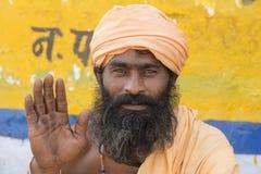 Hombre indio del retrato en Pushkar La India Foto de archivo libre de regalías