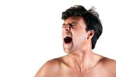 Hombre indio enojado que grita Imagen de archivo libre de regalías