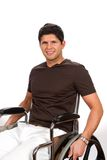 Hombre inhabilitado silla de ruedas Foto de archivo libre de regalías