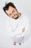 Hombre insano en camisa de fuerza Imagen de archivo libre de regalías