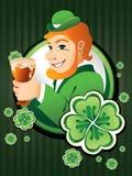 Hombre irlandés con la cerveza Fotografía de archivo
