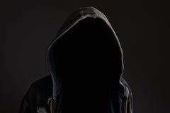 Hombre irreconocible anónimo sin identidad Imágenes de archivo libres de regalías