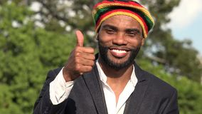 Hombre jamaicano sonriente metrajes