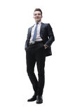 Hombre joven acertado en un traje de negocios Fotografía de archivo libre de regalías