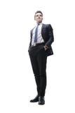 Hombre joven acertado en un traje de negocios Foto de archivo