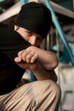 Hombre joven agresivo Imagen de archivo