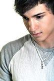 Hombre joven aislado en el fondo blanco Imagen de archivo libre de regalías