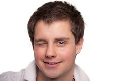 Hombre joven alegre Imagen de archivo libre de regalías
