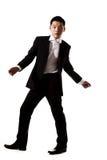 Hombre joven asiático con estilo en traje formal Foto de archivo libre de regalías