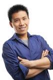 Hombre joven asiático de la confianza Imágenes de archivo libres de regalías
