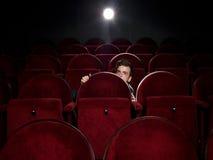 Hombre joven asustado Imagen de archivo