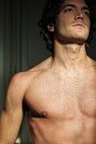 Hombre joven atractivo con el torso descubierto Foto de archivo
