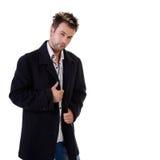 Hombre joven atractivo en el fondo blanco Imágenes de archivo libres de regalías