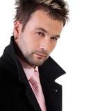 Hombre joven atractivo en el fondo blanco Imagen de archivo libre de regalías